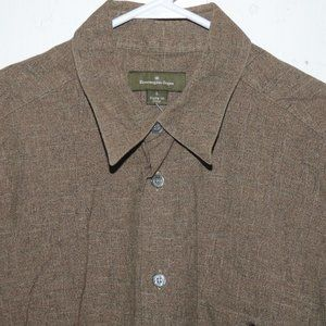 Ermenegildo Zegna button down mens shirt sz L J615